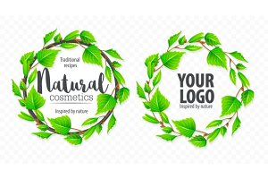 Natural organic sign logo