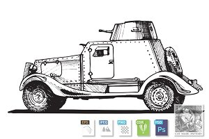 Vintage armored car