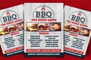 BBQ Restaraunt Flyer Template