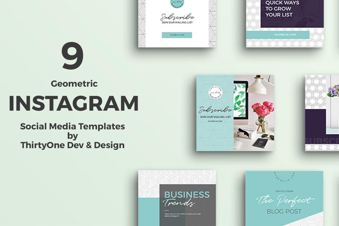 Geometric Instagram Templates ~ Instagram Templates ...