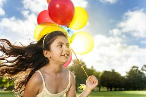Child playing balloon