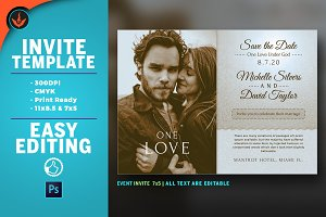Retro Wedding Invite Template