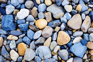 Multi colored Pebbles rocks