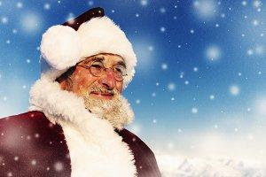 Santa in a winter wonderland