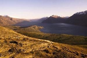 Marvelous view of lake Wakitipu