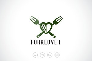 Fork Lover Logo Template