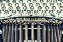 Antique typewriter. Vintage object