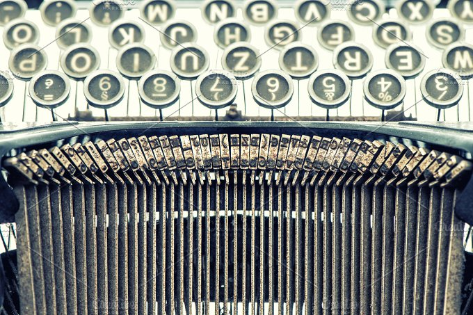 Antique typewriter. Vintage object - Business