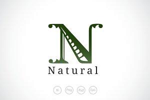 Alphabet N logo Template