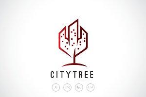City Tree Logo Template