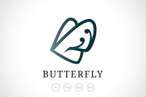Butterfly Logo Template