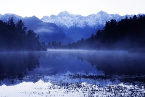 Lake Matheson with Mt Cook