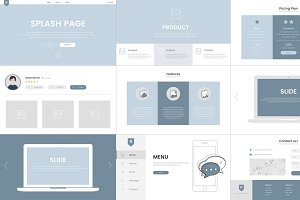 Vector of website elements