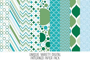 Malibu Blue Pattern Paper Pack - 17