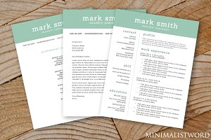Resume, Cover Letter, Reference 3-Pk