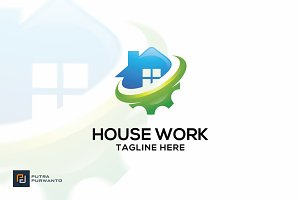 House Work - Logo Template