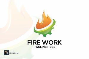 Fire Work - Logo Template