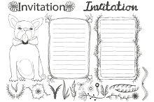 Invitation design set