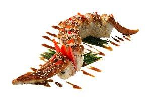 Sushi dragon with eel
