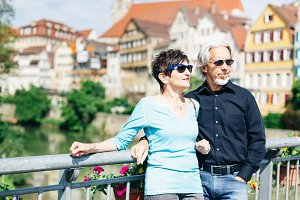 Senior Couple in Tuebingen, Germany