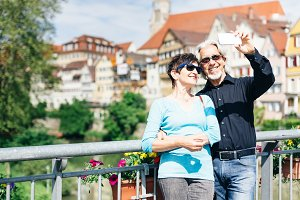 Senior Couple in Tuebingen, Germany