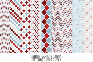 Christmas Winter Pattern Paper Pack