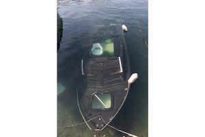 Sunken Boat in Port