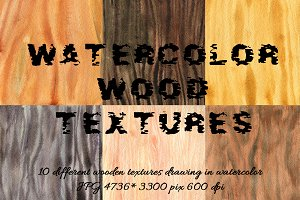 Watercolor wood textures