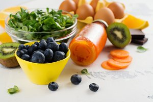 Healthy food good for eyes