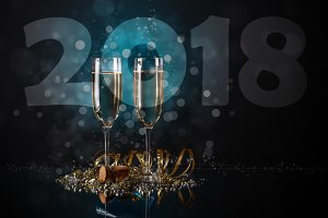 2018 New Year concept,