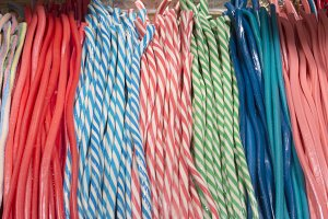 colorful ties candy,