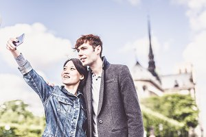 Young Multi-ethnic Couple in Paris, France