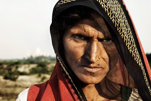 Indigenous Indian woman