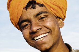 Indigenous Indian boy smiling