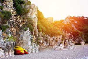Olympos beach Cirali in Turkey
