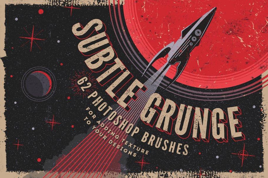 Subtle grunge Photoshop brushes ~ Photoshop Add-Ons ~ Creative Market