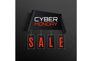 Cyber monday sale abstract design.