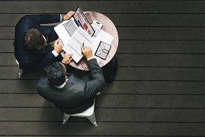 business partner working together
