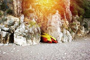 Mountain beach, eco travel