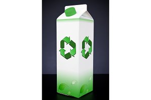 Carton With Recycling Symbol