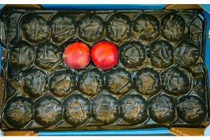 Empty Fruit Box At A Farmer's Market