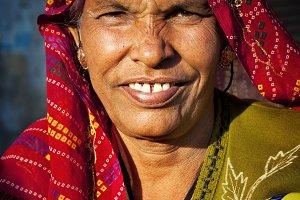 Indigenous senior woman smiling