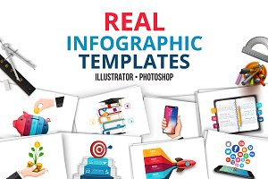 Real infographic templates