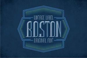 Boston Vintage Label Typeface