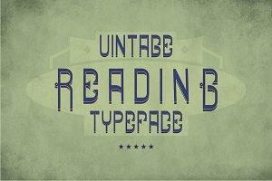 Reading Vintage Label Typeface