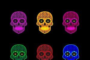 Skull icons Halloween