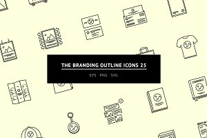 The Branding Outline Icons 25