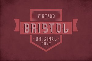 Bristol Vintage Label Typeface
