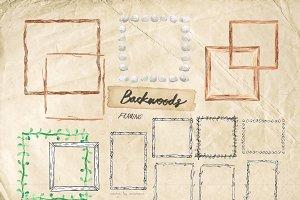 BACKWOODS frames - watercolor&vector