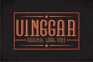 Vinegar Vintage Label Typeface